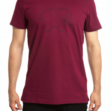T-Shirt | Elephant | men | burgundrot
