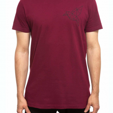 T-Shirt | Bird klein | men | burgundrot