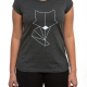 T-Shirt | Fox | women | dkl.grau mélange