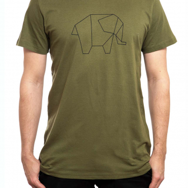 T-Shirt | Elephant | men | olivgrün
