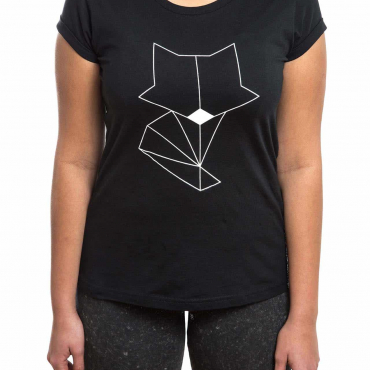 T-Shirt | Fox | women | schwarz