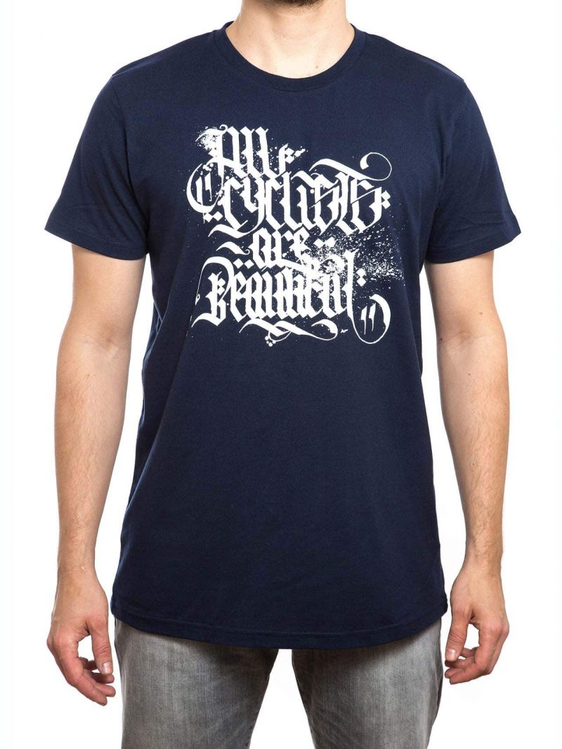 T-Shirt | All cylclist are beautiful | men | navy